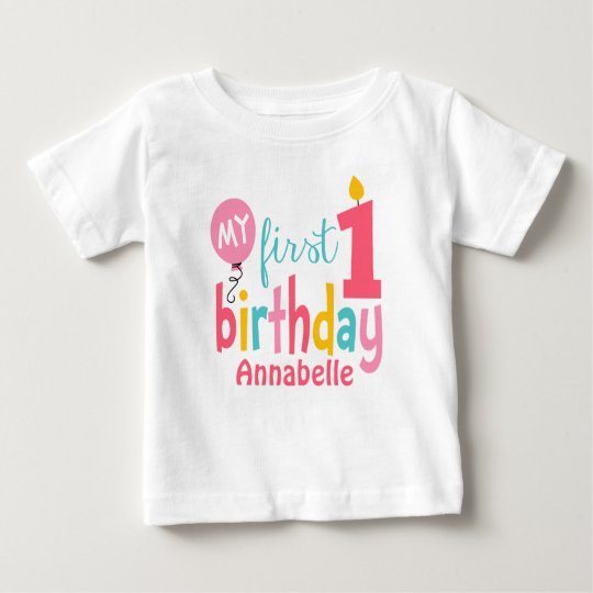 304548dc1892c First Birthday Tshirt Personalised