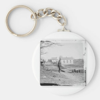 First Bull Run, July 1861. US Civil War Basic Round Button Key Ring