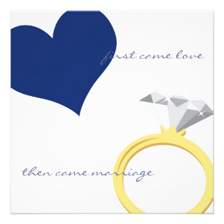 FIRST CAME LOVE-NAVY Invitation