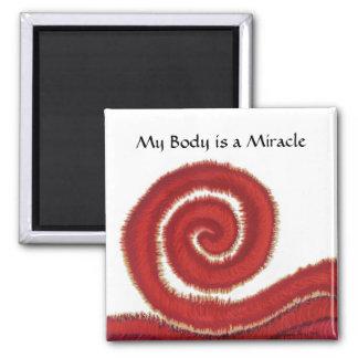 First Chakra Art: #1: Physical Body Issues Fridge Magnet