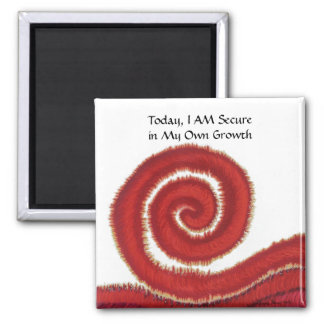 First Chakra Art: #1: Trust-Safety Issues Square Magnet