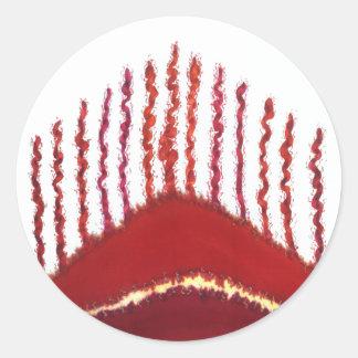 First Chakra Healing Art #3 Round Sticker