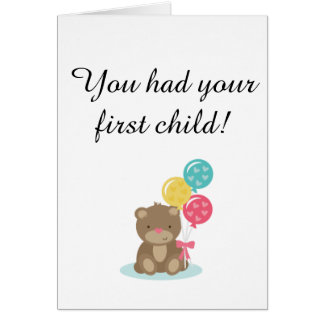 First Child card for childfree