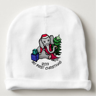 First Christmas Adorable Cute Cartoon Elephant Baby Beanie