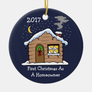 First Christmas As A Homeowner 2017 (Cabin) Christmas Ornament