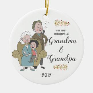 First Christmas as Grandma and Grandpa Ornament