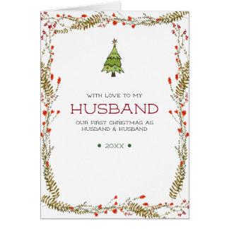 First Christmas as Husband & Husband Card