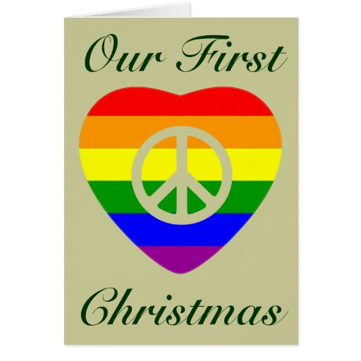 FIRST CHRISTMAS AS MARRIED GAY COUPLE CARD
