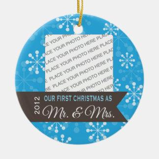 First Christmas as Mr. & Mrs. Christmas Ornament