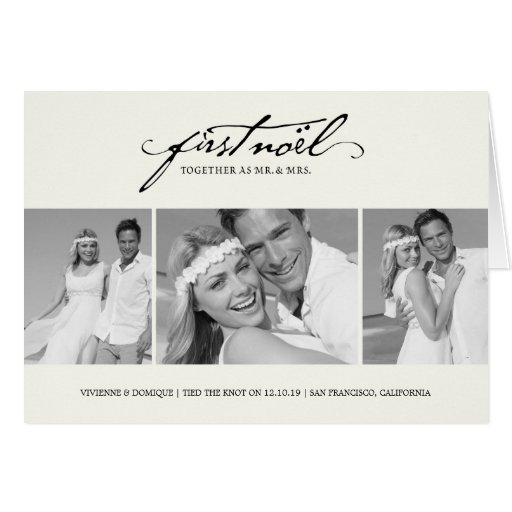 First Christmas As Mr. & Mrs. Holiday Greetings Cards