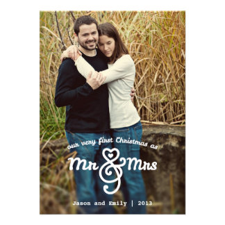 First Christmas as Mr Mrs Holiday Photo Card