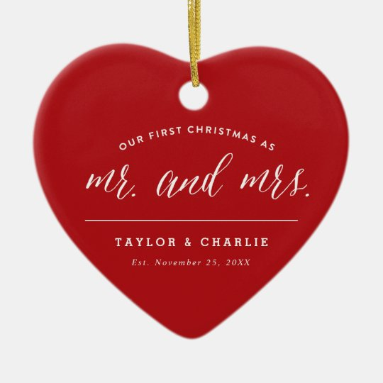 First Christmas As Mr & Mrs Holiday Photo