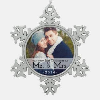 First Christmas as Mr & Mrs Keepsake Ornament