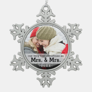 First Christmas as Mrs & Mrs Keepsake Ornament