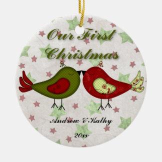 First Christmas Birdies Ornament (Green)