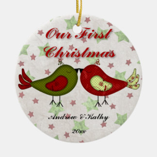 First Christmas Birdies Ornament (Red)