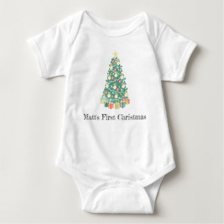 First Christmas Bodysuit, My first Christmas, Xmas Baby Bodysuit