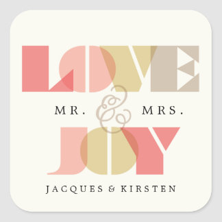 First Christmas Clearly Love & Joy Wedding Sticker