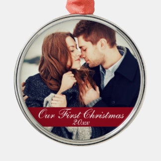 First Christmas Couple Ornament Year