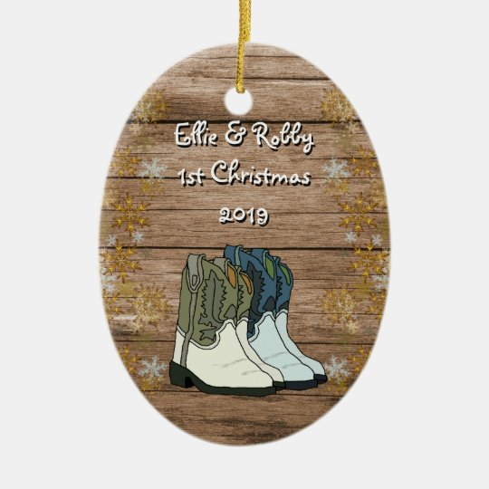 First Christmas Couples New Home Country Christmas Ornament