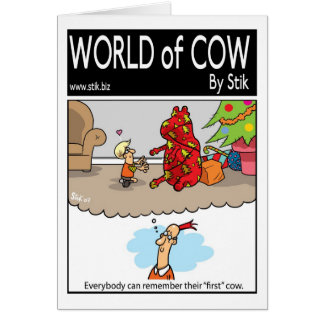 First Christmas Cow Card