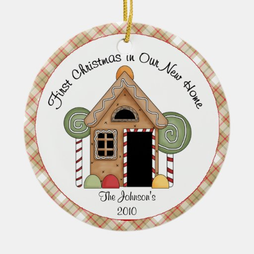 First Christmas Gingerbread House Ornament