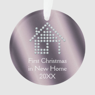 First Christmas in New Home 20XX | metallic Ornament