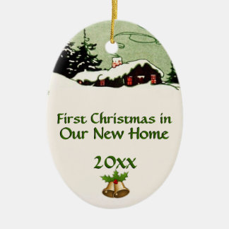 First Christmas in New Home Country Cabin Christmas Ornament