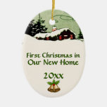 First Christmas in New Home Country Cabin Ornament