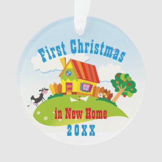 First Christmas in New Home | Family Photo Ornament