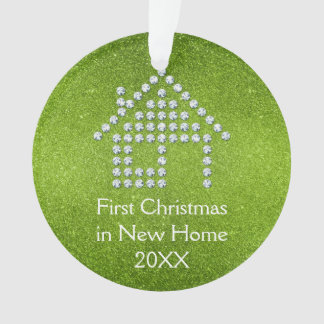 First Christmas in New Home | Green Ornament