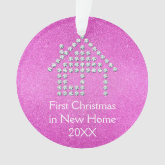 First Christmas in New Home - Pink Ornament