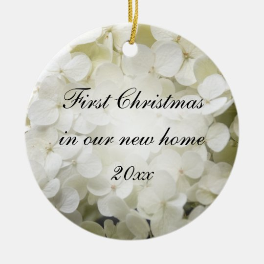First Christmas in New Home White Hydrangea Christmas