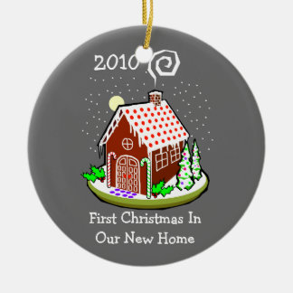 First Christmas In Our New Home 2010 (Gingerbread) Ornaments