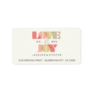 First Christmas Love & Joy Wedding Address Labels