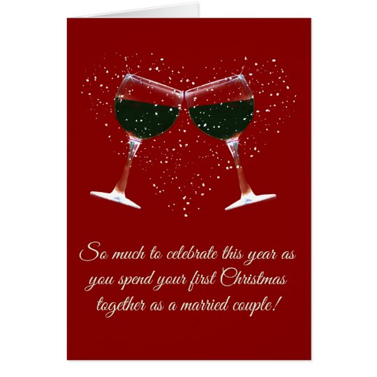 First Christmas Married Holiday Card