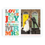 First Christmas Mr and Mrs Holiday Photo Greetings 13 Cm X 18 Cm Invitation Card