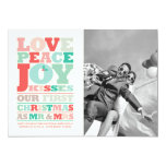 First Christmas Mr and Mrs Holiday Photo Greetings Custom Announcements