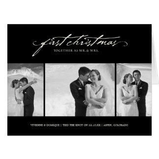 First Christmas Mr. & Mrs. Holiday Photo Greetings Big Greeting Card