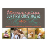 First Christmas Mr. & Mrs. Holiday Photo Greetings Personalized Announcements
