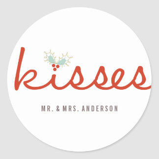 First Christmas Mr. & Mrs. Kisses Holiday Sticker