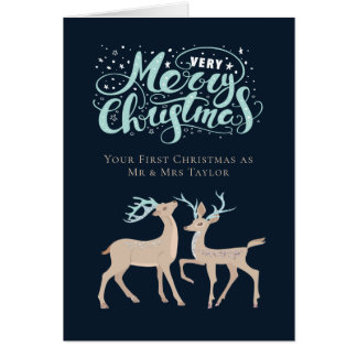 First Christmas Personalized Deer Christmas Card