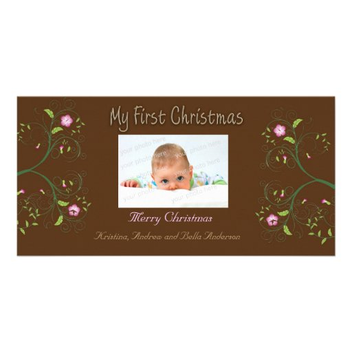 First Christmas Photo Card