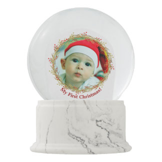 First Christmas Photo gift Snow Globe