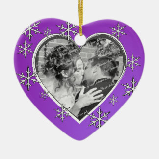 First Christmas Photo Heart Christmas Ornament
