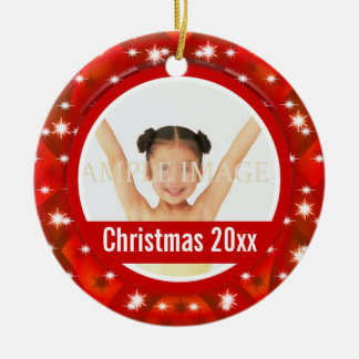 First Christmas photo personalize Christmas Tree Ornaments