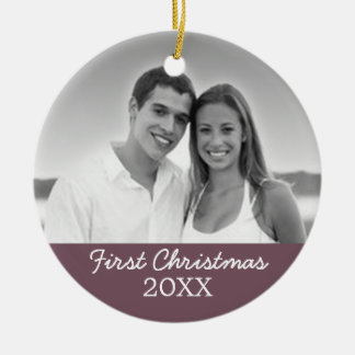 First Christmas Photo - Single Sided Christmas Ornament