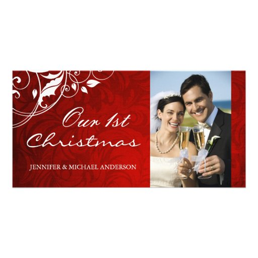 First Christmas Photocards Photo Card Template