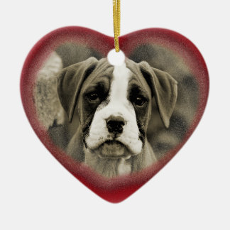 First Christmas Puppy Dog Boxer Ornament 2012