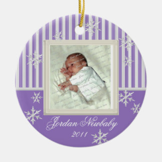 First Christmas Snowflakes Violet Christmas Ornament